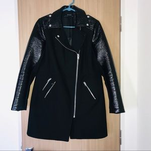 ZARA BASIC  BLACK TRENCH COAT 🧥 SZ MEDIUM